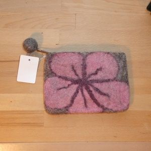 Pretty Japanese Pink Felt Wallet